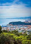 Frankreich, Provence-Alpes-Côte d'Azur, Nizza: im Vordergrund der Hafen Port Lympia   France, Provence-Alpes-Côte d'Azur, Nice: at foreground Port Lympia