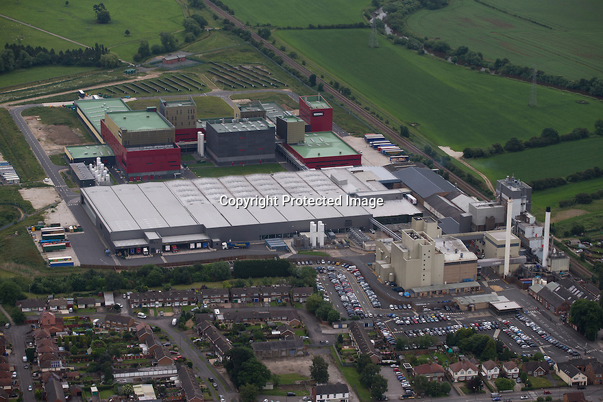 22/06/16 <br /> <br /> Aerial view of Nestlé factory, Tutbury, Derbyshire.<br /> <br /> <br /> All Rights Reserved F Stop Press Ltd +44 (0)1335 418365