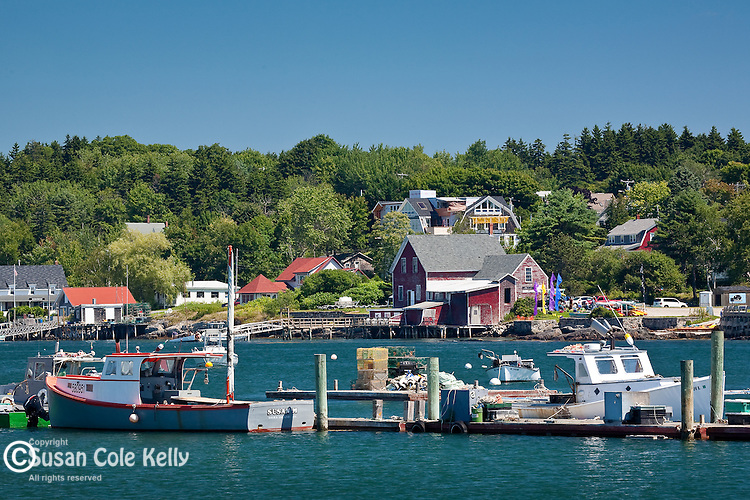 Fishing village on Bailey Island, the Harpswells, Mid-coast ME