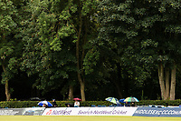 A few hardy souls hope for the best as the rain returns during Middlesex vs Hampshire Hawks, Royal London One-Day Cup Cricket at Radlett Cricket Club on 30th July 2021