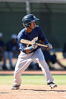 Milwaukee Brewers shortstop Francisco Castillo (3) during an Instructional League game against the Los Angeles Angels on October 11, 2013 at Tempe Diablo Stadium Complex in Tempe, Arizona.  (Mike Janes/Four Seam Images)