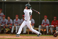 Dartmouth Big Green outfielder Kyle Holbrook (9) during a game against the Ball State Cardinals on March 7, 2015 at North Charlotte Regional Park in Port Charlotte, Florida.  Ball State defeated Dartmouth 7-4.  (Mike Janes/Four Seam Images)