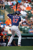 Minnesota Twins right fielder Max Kepler (67) at bat during a Spring Training game against the Baltimore Orioles on March 7, 2016 at Ed Smith Stadium in Sarasota, Florida.  Minnesota defeated Baltimore 3-0.  (Mike Janes/Four Seam Images)