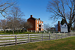 McLean house at Appomattox Court House, Virginia, site of the surrender at the end of the Civil War.