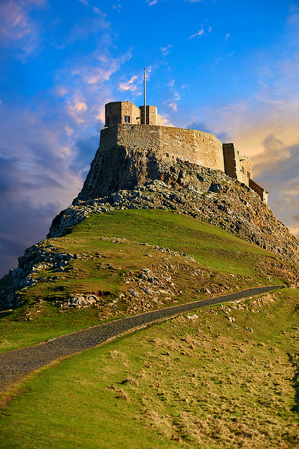 16th Century castle of Holy Island, Lindisfarne, Northumberland, England