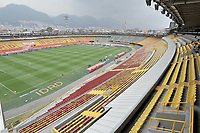BOGOTA - COLOMBIA, 14-02-2021: Panoramica estadioNemesio Camach El Campin antes de partido de la fecha 6 entre Independiente Santa Fe y Atletico Bucaramanga, por la Liga BetPlay DIMAYOR I 2021, en el estadio Nemesio Camacho El Campin de la ciudad de Bogota. / Panoramic view of the Nemesio Camacho El Campin prior a match of the 6th date between Independiente Santa Fe and Atletico Bucaramanga, for the BetPlay DIMAYOR I 2021 League at the Nemesio Camacho El Campin Stadium in Bogota city. / Photo: VizzorImage / Luis Ramirez / Staff.