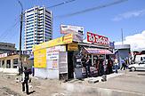 Kiosk am Busbahnhof in der Hauptstadt Tiflis / bus station with kiosk in Tiflis.