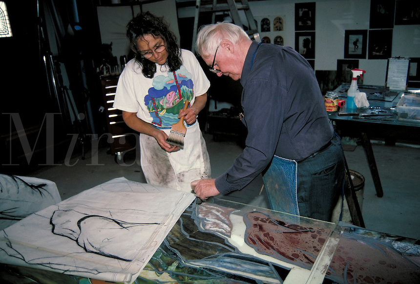 Art studio work in progress 2. Workers, artists.