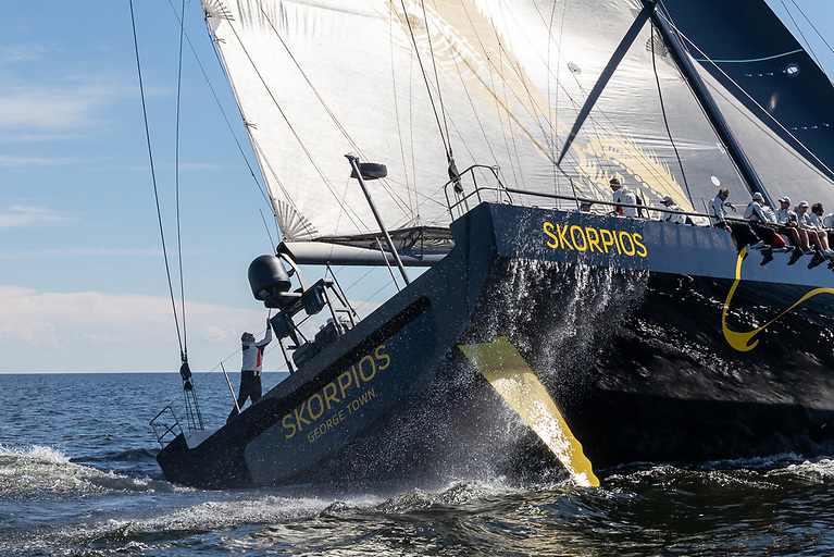 The ClubSwan 125 Skorpios makes its racing debut in the Fastnet Race Week and will also compete in the Middle Sea Race in October