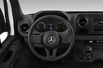 Car pictures of steering wheel view of a 2019 Mercedes Benz Sprinter DC Base 4 Door Pick Up