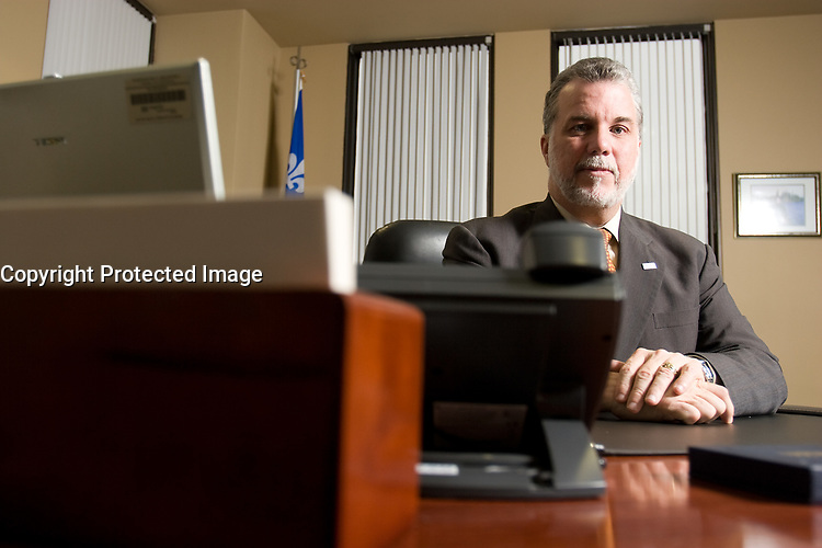 Health Minister Philippe Couillard at his office in Quebec City. Photo Francis Vachon for The National Review of Medicine<br /> <br /> PHOTO :  Francis Vachon - Agence Quebec Presse