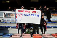 US fans <br /> <br /> France Women vs. U.S. Women, Friendly international, Stade du Moustoir, Lorient, France, 8th February 2015. ©Dave WINTER/BPI