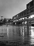 The intersection of Main and Riverside Streets in Oakville was inundated by floodwaters after torrential rains pushed Steele Brook over its banks in September of 1975.
