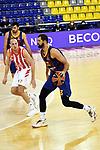 Turkish Airlines Euroleague 2020/2021. <br /> Regular Season-Round 10.<br /> FC Barcelona vs Crvena Zvezda MTS Belgrade: 76-65.<br /> Dejan Davidovac vs Nikola Mirotic.