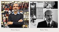 IL VERO E IL FALSO:.Ritratti di veri soci Coop e degli attori che interpretano la sit-Com Casa Coop.Andrea Tidona.