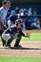 Nathan Rodriguez (17) of the Helena Brewers on defense against the Ogden Raptors in Pioneer League action at Lindquist Field on July 16, 2016 in Ogden, Utah. Ogden defeated Helena 5-4. (Stephen Smith/Four Seam Images)