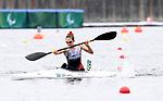 Andrea Nelson, Tokyo 2020 - Para Canoe // Paracanoë.<br /> Andrea Nelson competes in the women's single KL2 200m Kayak // Andrea Nelson participe au kayak simple féminin KL2 200m. 09/04/2021.