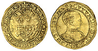 BNPS.co.uk (01202 558833)<br /> Pic: Spink/BNPS<br /> <br /> Pictured:  Edward VI, Crown (struck January 1549 - April 1550). Unusual in that the portrait of the 'boy king' features on the reverse rather than the 'head' side. It had an estimate of £4,000-£6,000.<br /> <br /> The family of a late steeplejack are celebrating today after his incredible collection of rare coins sold for a whopping £2.8m.<br /> <br /> The 52 coins from the Tudor and Stuart periods were amassed by prolific collector Horace Hird over 50 years.<br /> <br /> He died in 1973 and it had been presumed he had sold all his coins while he was still alive. But a descendant found dozens of them still wrapped with their paperwork dating back to the 1960s.
