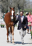 April 23, 2014: Mr. Medicott and Phillip Dutton. during the first horse inspection at the Rolex Three Day Event in Lexington, KY at the Kentucky Horse Park.  Candice Chavez/ESW/CSM
