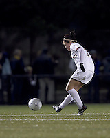 """Boston College forward Maddie Payne (3) passes the ball. Boston College defeated West Virginia, 4-0, in NCAA tournament """"Sweet 16"""" match at Newton Soccer Field, Newton, MA."""