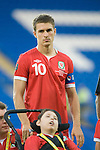 Euro 2012 Qualifying match - Wales v Montenegro at the Cardiff City Stadium..Wales Captain Aaron Ramsey..