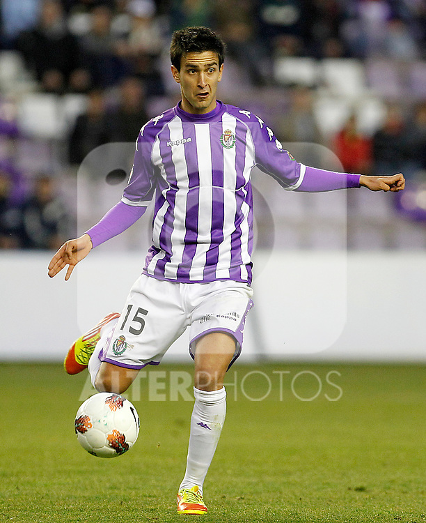 Real Valladolid's Alberto Bueno during Spanish 2th Division match.March 3,2012. (ALTERPHOTOS/Acero)