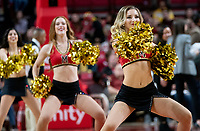 COLLEGE PARK, MD - DECEMBER 28: Maryland cheerleaders perform. during a game between University of Michigan and University of Maryland at Xfinity Center on December 28, 2019 in College Park, Maryland.
