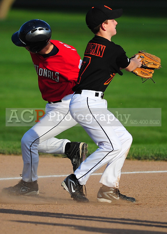 The Pleasanton National Little League Major Giants at the Pleasanton Sports Park Wednesday March 24, 2010. (Photo by Alan Greth)