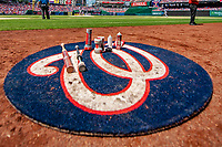 20 May 2018: The Washington Nationals On Deck Circle is ready for use during a game against the Los Angeles Dodgers at Nationals Park in Washington, DC. The Dodgers defeated the Nationals 7-2, sweeping their 3-game series. Mandatory Credit: Ed Wolfstein Photo *** RAW (NEF) Image File Available ***