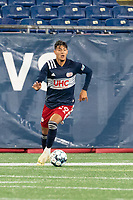 FOXBOROUGH, MA - OCTOBER 16: Nicolas Firmino #29 of New England Revolution II during a game between North Texas SC and New England Revolution II at Gillette Stadium on October 16, 2020 in Foxborough, Massachusetts.