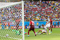 Thomas Muller of Germany scores his hattrick goal to make it 4-0