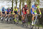The peloton including Alessandro Ballan (ITA) BMC Racing Team and Sylvain Chavanel (FRA) Omega Pharma-Quickstep approach the start of the Oude Kwaremont climb during the 96th edition of The Tour of Flanders 2012, running 256.9km from Bruges to Oudenaarde, Belgium. 1st April 2012. <br /> (Photo by Eoin Clarke/NEWSFILE).
