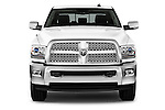 Car photography straight front view of a 2015 Ram 2500 Laramie 4 Door Truck
