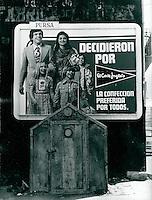 Plakatwand in Andalusien, Spanien 1975