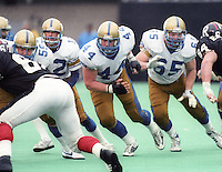 Mike Hameluck Winnipeg Blue Bombers 1986. Photo F. Scott Grant