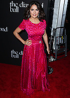 BEVERLY HILLS, CA, USA - DECEMBER 11: Salma Hayek arrives at Rihanna's 1st Annual Diamond Ball held at The Vineyard Beverly Hills on December 11, 2014 in Beverly Hills, California, United States. (Photo by Xavier Collin/Celebrity Monitor)