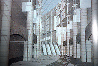 London: Paternoster Master Plan, ARUP Assoc. Perspective view of arcade looking east.  A.D. 58, no. 11/12.   Reference only.