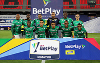 PASTO-COLOMBIA, 10-10-2020: Jugadores de Deportivo Cali, posan para una foto, antes de durante partido de la fecha 13 entre Deportivo Pasto y Deportivo Cali por la Liga BetPlay DIMAYOR 2020 jugado en el estadio Departamental Libertad de la ciudad de Pasto. / Players of Deportivo Cali, pose for a photo, prior a match of the 13th date between Deportivo Pasto and Deportivo Cali for the BetPlay DIMAYOR League 2020 played at the Departamental Libertad Stadium in Pasto city. / Photo: VizzorImage / Leonardo Castro / Cont.