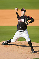 Starting pitcher Terry Doyle #25 of the Kannapolis Intimidators in action against the West Virginia Power at Fieldcrest Cannon Stadium April 25, 2010, in Kannapolis, North Carolina.  Photo by Brian Westerholt / Four Seam Images