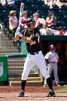 Johnny Coy (25) of the Wichita State Shockers at bat during a game against the Missouri State Bears on April 9, 2011 at Hammons Field in Springfield, Missouri.  Photo By David Welker/Four Seam Images