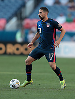 DENVER, CO - JUNE 3: Sebastian Lletget #17 of the United States moves with the ball during a game between Honduras and USMNT at EMPOWER FIELD AT MILE HIGH on June 3, 2021 in Denver, Colorado.