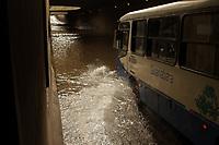 Belém. Pará. Brasil. Cidades. Alagamento no Túnel do entrocamento em Belém. 04-02-18. Foto: Maycon Nunes.