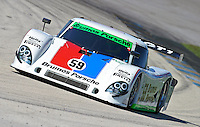 The #59 Porsche Riley of Joao Barbosa and Hurley Haywood races to victory in the Grand Prix of Miami, Homestead-Miami Speedway, Homestead, FL, October 10, 2009. (Photo by Brian Cleary/www.bcpix.com).