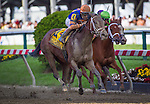 BALTIMORE, MD - MAY 20:  Lost Raven #4, ridden by John Velazquez wins the Adena Springs Miss Preakness Stakes at Pimlico Race Course on May 20, 2016 in Baltimore, Maryland. (Photo by Zoe Metz/Eclipse Sportswire/Getty Images)