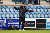 Harry Kewell, Manager of Oldham Athletic not sure about the officials decision making during Colchester United vs Oldham Athletic, Sky Bet EFL League 2 Football at the JobServe Community Stadium on 3rd October 2020