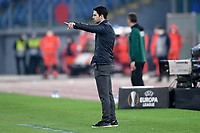 18th February 2021, Rome, Italy;   Mikel Arteta manager of Arsenal FC during the UEFA Europa League round of 32 Leg 1 match between SL Benfica and Arsenal at Stadio Olimpico, Rome, Italy on 18 February 2021.