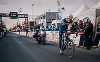Philippe Gilbert (BEL/Quick Step floors) rolling in as 2nd<br /> <br /> 50th GP Samyn 2018<br /> Quaregnon > Dour: 200km (BELGIUM)