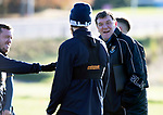 St Johnstone Training….  McDiarmid Park…26.10.18<br />Manager Tommy Wright pictured with Danny Swanson and Murray Davidson during training this morning ahead of tomorrow's game against St Mirren.<br />Picture by Graeme Hart.<br />Copyright Perthshire Picture Agency<br />Tel: 01738 623350  Mobile: 07990 594431