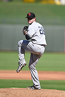 Scottsdale Scorpions pitcher Caleb Cotham (28) during an Arizona Fall League game against the Surprise Saguaros on October 11, 2014 at Surprise Stadium in Surprise, Arizona.  Scottsdale defeated Surprise 7-6.  (Mike Janes/Four Seam Images)