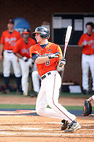 John Hicks of the Virginia Cavaliers playing in Game Two of the NCAA Super Regional tournament against the Oklahoma Sooners at Charlottesville, VA - 06/13/2010. Oklahoma defeated Virginia, 10-7, to tie the series after two games.  Photo By Bill Mitchell / Four Seam Images